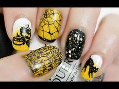 ▶ Halloween Nails (Konad Stamping) - YouTube // elleandish