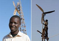 """William Kamkwamba é um jovem malauiano, que tinha apenas 14 anos quando decidiu inovar e ajudar a sua família em Kasungo, Malawi. Sem acesso a eletricidade, William quis aproveitar o vento e construiu um moinho gerador de energia, que hoje serve para dotar a casa da família com quatro lâmpadas e dois rádios. Um verdadeiro exemplo de que a vontade é a nossa principal arma. William teve a ideia depois de cruzar com um livro, """"Using Energy"""" (""""Usando Energia""""), no qual se davam algumas…"""