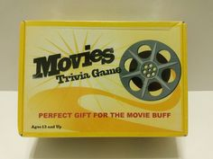NEW - Movies Trivia Game - Fun 5 Categories Comedy, Action, Drama, Sci Fi/Horror &  Awards #AlGonquinGames ..... Visit all of our online locations ..... (www.stores.eBay.com/variety-on-a-budget) ..... (www.amazon.com/shops/Variety-on-a-Budget) ..... (www.etsy.com/shop/VarietyonaBudget) ..... (www.bonanza.com/booths/VarietyonaBudget ) .....(www.facebook.com/VarietyonaBudgetOnlineShopping)