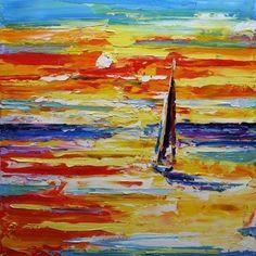indruk olieverfschilderij landschap canvas kunst schilderijen paletmes