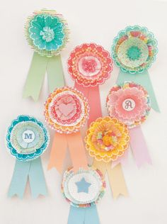 Who knew you could use cupcake wrappers to craft  a medallion!  Oh Martha Stewart how do you come up with these things?