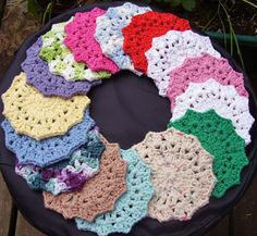 4 Large Facial Scrubbies Small Washcloth Adult or Baby 100%