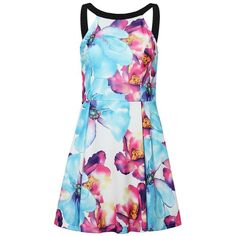 Yoins Halter Neck Floral Slim Flare Dress ($14) ❤ liked on Polyvore featuring dresses, yoins, black, zipper dress, slimming dresses, ruffle dress, floral halter dress and floral flare dress