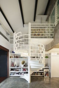 i just keep imagining using the brick shaped spaces as book shelves ~ The Brick Loft / FARM Architect