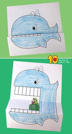 The Bible 781796816545845418 - Jonah and the Whale – Bible Crafts Source by ginisca Preschool Bible Lessons, Bible Activities For Kids, Bible Crafts For Kids, Bible Study For Kids, Bible Lessons For Kids, Preschool Crafts, Jonah Craft, Kids Church Lessons, Whale Crafts