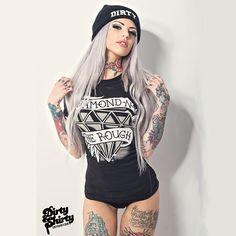Sexy Diamonds in the Rough: http://www.inkedshop.com/womens-diamond-in-the-rough-t-dirty-shirty-blk.html