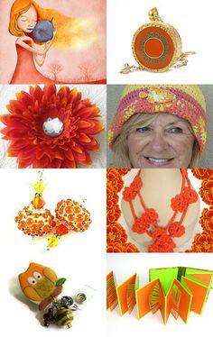 Optimistic Orange by JimAndGina on Etsy--Pinned with TreasuryPin.com