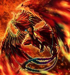 Suzaku es la palabra japonesa que se utiliza para designar a uno de los cuatro monstruos divinos de la mitología china, representativos de los puntos cardinales. Suzaku representa el sur y su apariencia es la de un Fénix Bermellón, que a su vez representa el elemento fuego.
