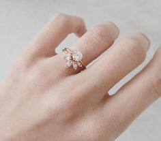 Marquise sunbeam ring