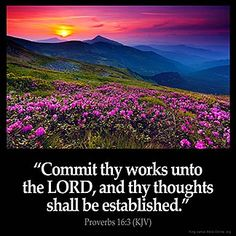 Inspirational Image for Proverbs 16:3