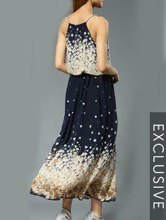 Floral Printed Fascinating Maxi Dress