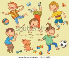 Cartoon Kids Playing | Cartoon, Kids playing and Soccer
