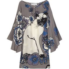 Paul & Joe Cat-print silk dress