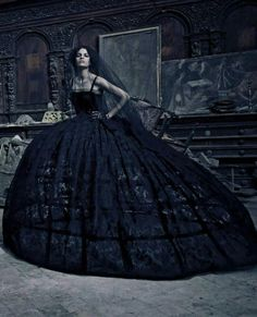 Gothic bridal would totaly consider wearing this