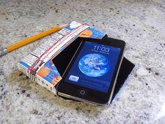 Reciclaje: funda para iPod hecha con un tetrabrik de zumo