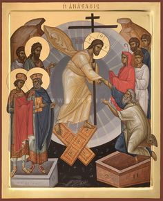 Christ Is Risen, He Is Risen, Jesus Christ, Religious Icons, Religious Art, Life Of Christ, Byzantine Icons, Orthodox Icons, Roman Catholic