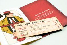 Inside of speakeasy invitation:  So cool! Love it! Rotary Club Charity Casino Invitation