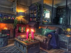 A Flair for the Lair – Dark Maximalist Interiors Eclectic Living Room, Eclectic Decor, Maximalist Interior, Red Rooms, Dark Interiors, My New Room, Decoration, Funky Bedroom, Asian Bedroom