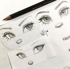 eye drawing step by step - eye drawing ; eye drawing step by step ; eye drawing tutorials step by step Pencil Art Drawings, Art Drawings Sketches, Cartoon Drawings, Cute Drawings, Drawings Of Lips, Cartoon Cartoon, Art Illustrations, Drawings Of Mouths, Sketches Of Eyes