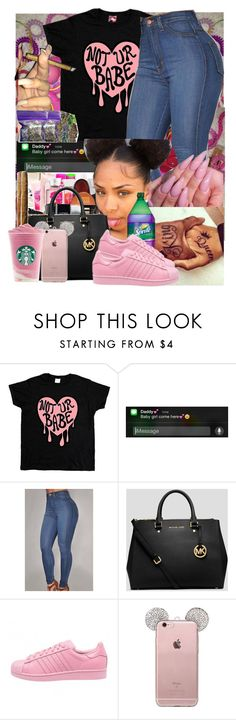 """"" by brandylovebrandy ❤ liked on Polyvore featuring MICHAEL Michael Kors and adidas"