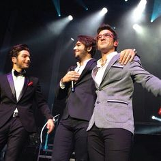 Gianluca,Ignazio,&  Piero's faces of pure happiness for their dream came true last night at Radio City Music Hall