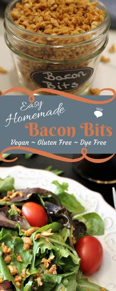 These homemade dye free bacon bits are vegan, gluten free, dye free, and chemical free, but taste better than any that you can buy at the store. thehiddenveggies.com