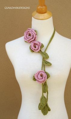 This romantic crocheted lariat is all about femininity and beauty. You cant go wrong with this versatile lariat. Youll invent many more ways to