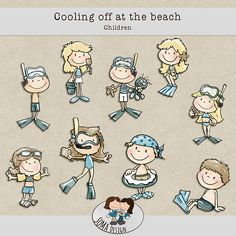 SoMa Design: Cooling Off At The Beach - Children Digital Scrapbooking, Kit, Cool Stuff, Children, Beach, Design, Cool Things, Kids