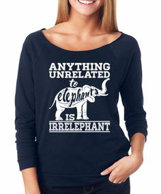 Look what I found on #zulily! Navy 'Anything Unrelated To Elephants' Raglan Tee #zulilyfinds