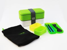 Midori Set, Office lunch set, Outdoor bento box kit | Bento&co