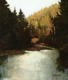 The American River I | Marc Bohne | oil on panel.