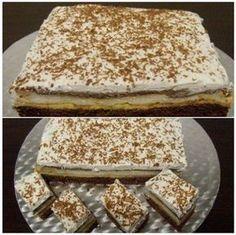 Prajitura Spaniola Romanian Desserts, Romanian Food, Sweets Recipes, Just Desserts, Cake Recipes, Pecan Bars, Dessert Drinks, Food Cakes, Diy Food