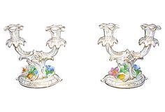 "Dresden Porcelain Candelabras 7.5""L x 4""W x 8""H ($450.00)  $199.00 OneKingsLane.com"