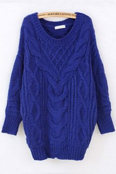Classic Cable Sweater OASAP.com