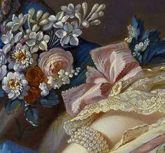 attributed to François Boucher ''Madame de Pompadour' (detail) 1758