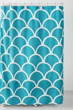Scallop Stamp Shower Curtain - use as curtain w/ blockers behind?