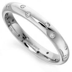 Rwt032 Flush Set Diamond Wedding Ring Simple And Elegant Fully