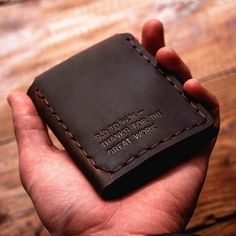 Gathersun The Secret Life Of Walter Mitty Retro Wallet  Handmade Custom Vintage Genuine Wallet Crazy Horse Leather Men's purse
