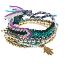River Island Friendship Bracelet Multipack ($17) ❤ liked on Polyvore