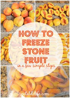 How To Freeze Stone Fruit