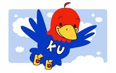 Would love this in a KU-themed nursery. Cute little jayhawk by ersheld on deviantart