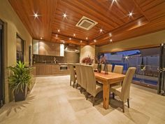 Dining rooms can be integrated into open plan living areas, or given a dedicated space. Read our dining room ideas and expert tips. Bbq Area, Australian Homes, Home Pictures, Open Plan Living, My Dream Home, Living Area, Outdoor Living, New Homes, Dining Room