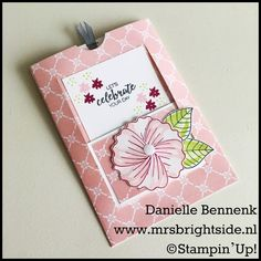 Stamp-On-Line project: Window Slider Kaart - Mrs. Brightside - Danielle Bennenk - Bunch of blossoms by Stampin' Up!