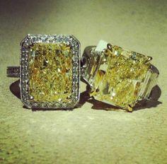 Yellow #Diamond #Rings on #HydeParkJewelers #Instagram