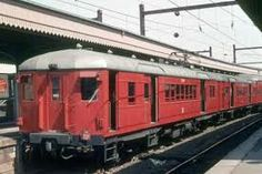 The classic red rattler trains that started in 1927 but were still running on my line in the 70s and 80s.