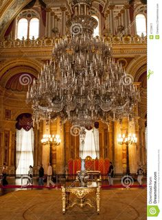 Dolmabahce palace interior, Istanbul Editorial Photo
