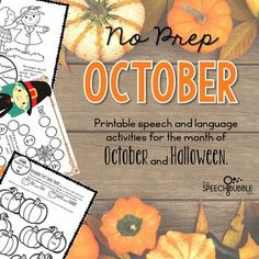 October means pumpkin spice everything and back to Halloween! Let this packet make planning sessions for those chilly October days easy. Want to use cute, seasonally themed activities but have no time to prep them all? This packet has 40  pages of October and Halloween themed activities to help save...