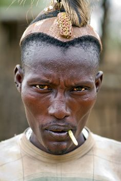 Africa |  Dassanetch Man Looking Sceptical - Ethiopia | © Steven Goethals