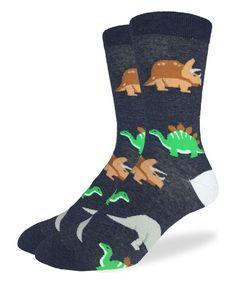 Take a look at this Black Dinosaur Crew Socks today!