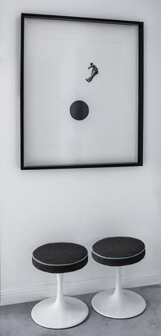 Casinha colorida: Retrô moderno em tons de cinza